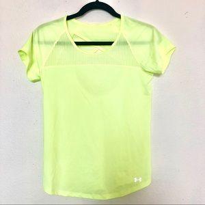 Women's Under Armour neon back cutout workout top